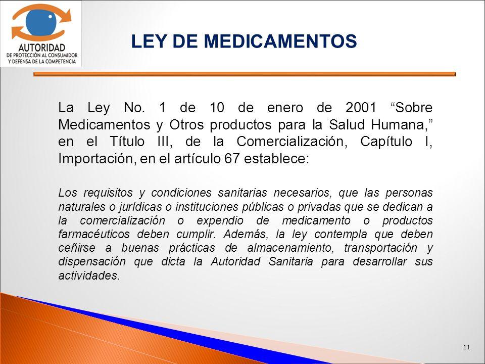 LEY DE MEDICAMENTOS