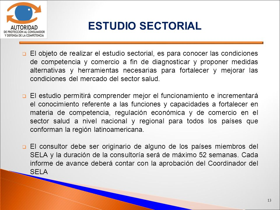 ESTUDIO SECTORIAL