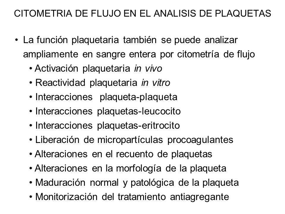 CITOMETRIA DE FLUJO EN EL ANALISIS DE PLAQUETAS
