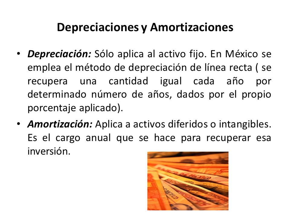 Depreciaciones y Amortizaciones