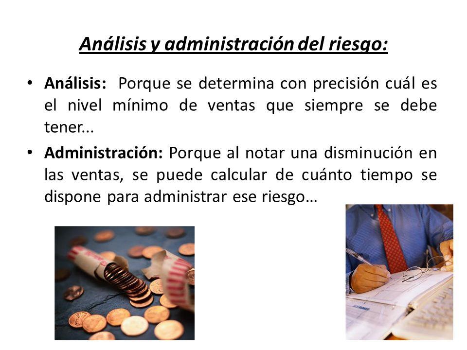 Análisis y administración del riesgo: