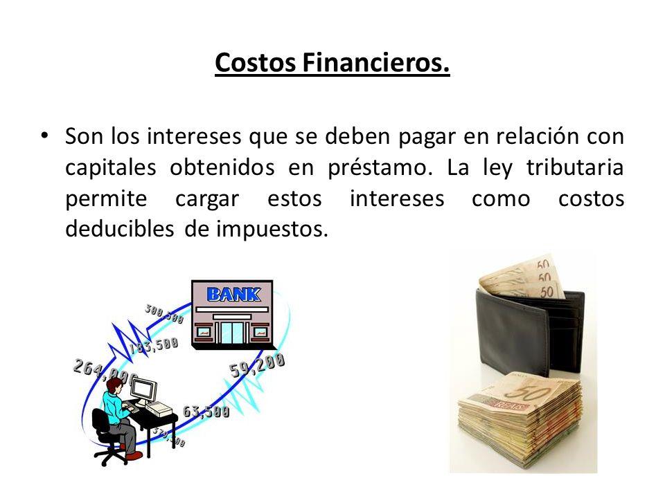 Costos Financieros.