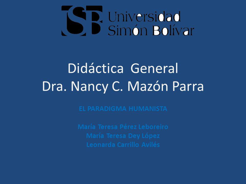 Didáctica General Dra. Nancy C. Mazón Parra
