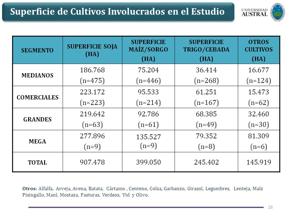 SUPERFICIE MAÍZ/SORGO SUPERFICIE TRIGO/CEBADA