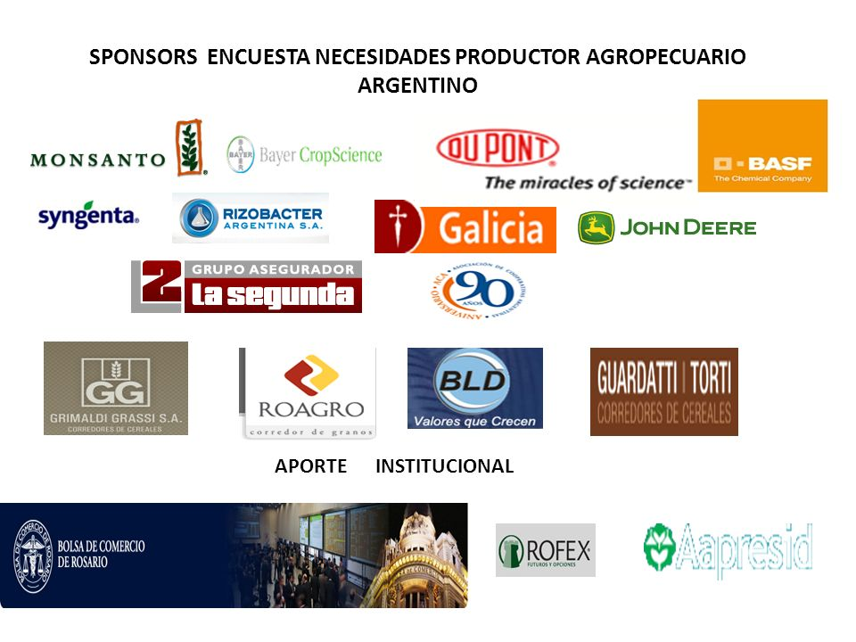 SPONSORS ENCUESTA NECESIDADES PRODUCTOR AGROPECUARIO ARGENTINO