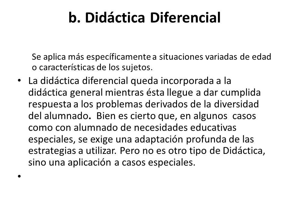 b. Didáctica Diferencial