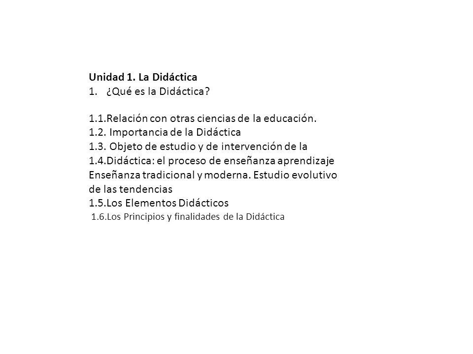 1.1.Relación con otras ciencias de la educación.