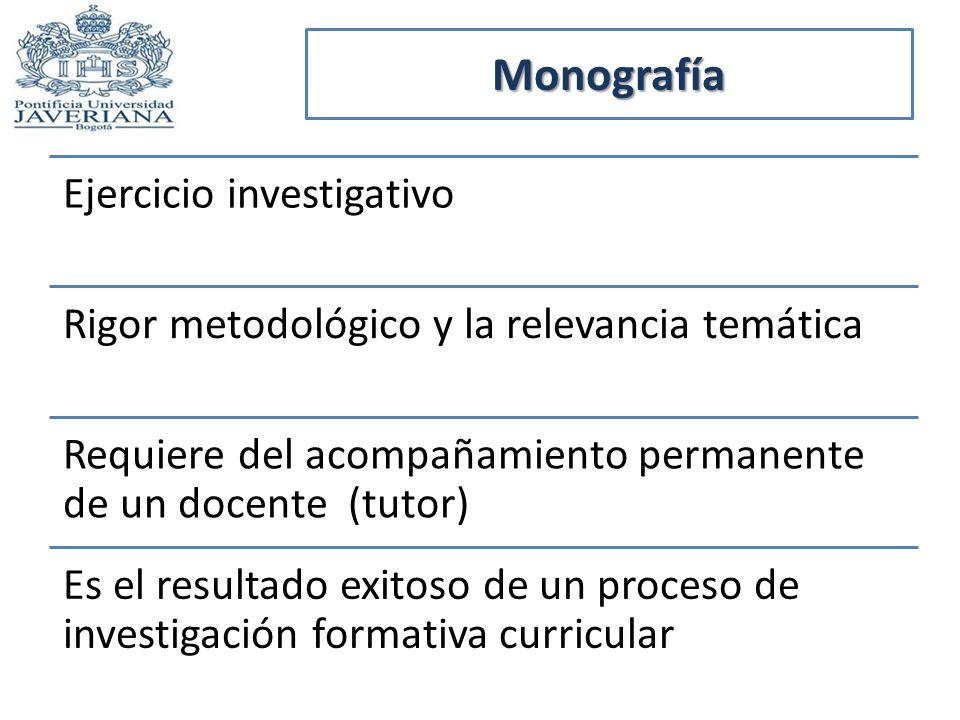 Monografía Ejercicio investigativo