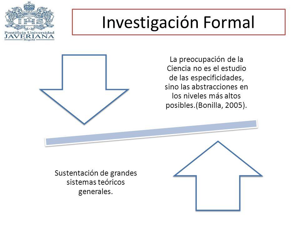 Sustentación de grandes sistemas teóricos generales.