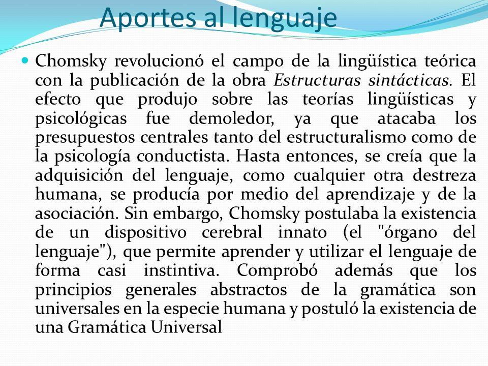 Aportes al lenguaje