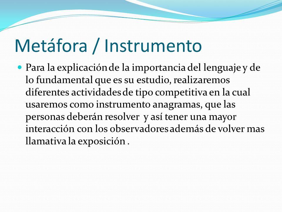 Metáfora / Instrumento