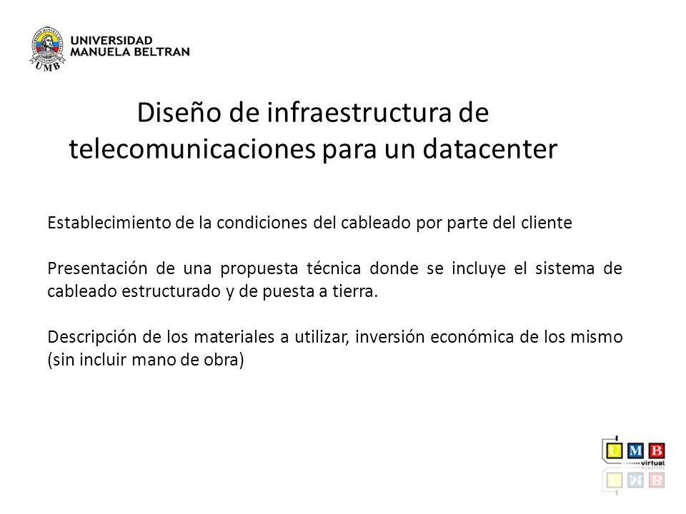 Diseño de infraestructura de telecomunicaciones para un datacenter