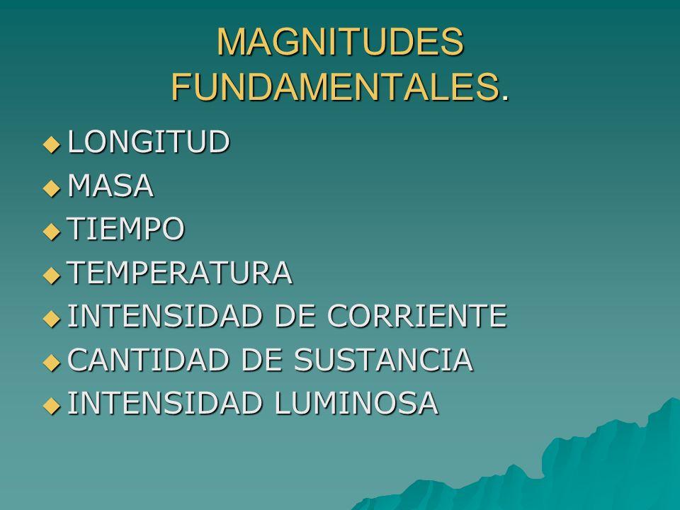 MAGNITUDES FUNDAMENTALES.