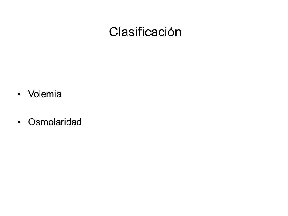Clasificación Volemia Osmolaridad