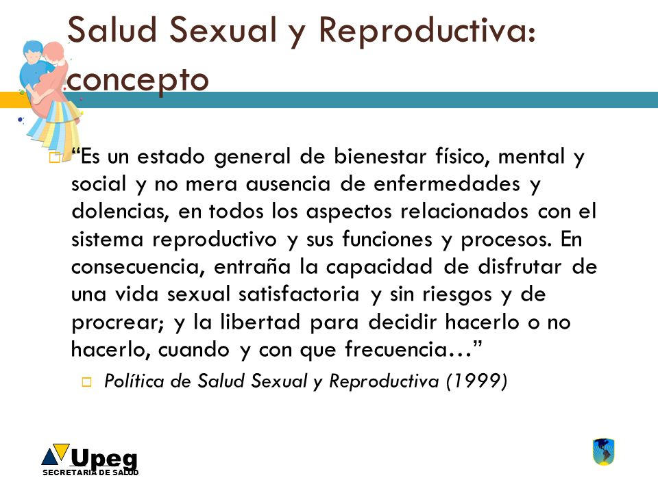 Salud Sexual y Reproductiva: concepto