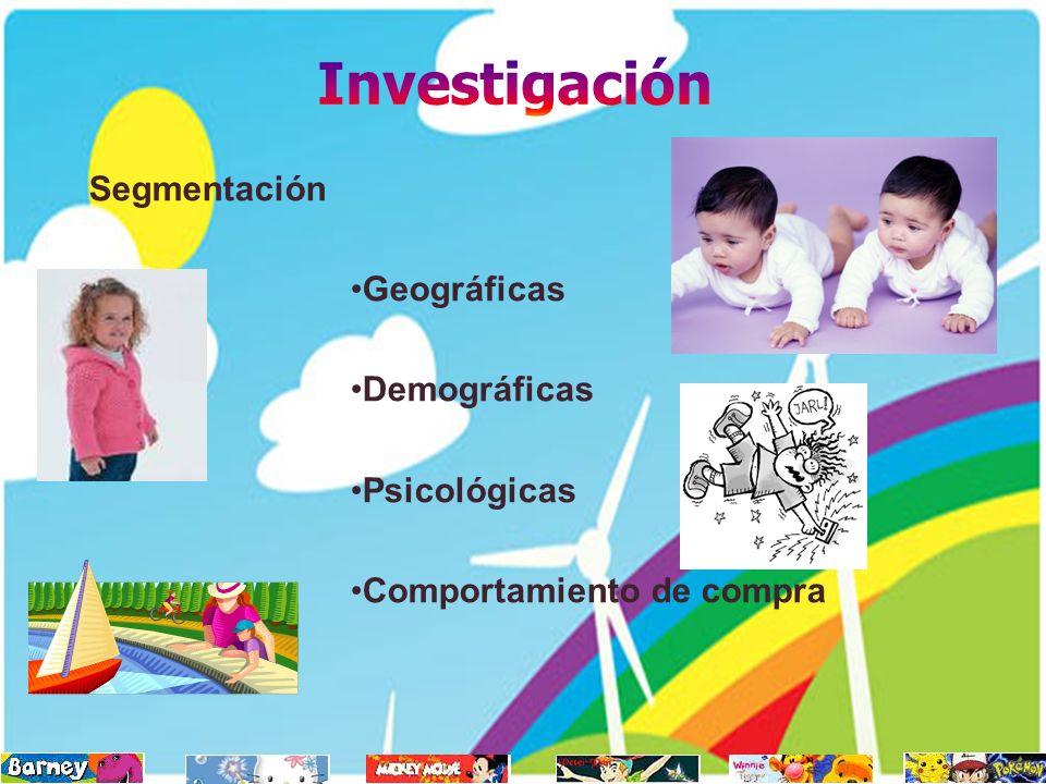 Investigación Segmentación Geográficas Demográficas Psicológicas