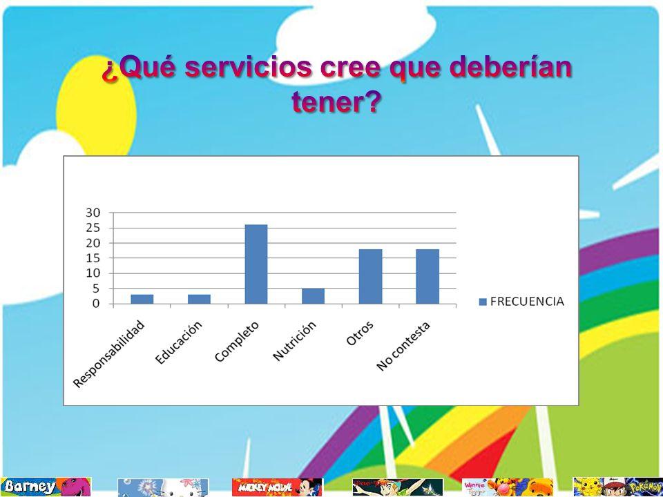 ¿Qué servicios cree que deberían tener