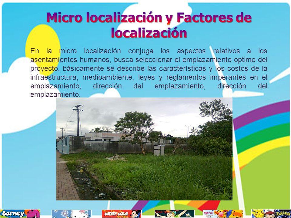 Micro localización y Factores de localización
