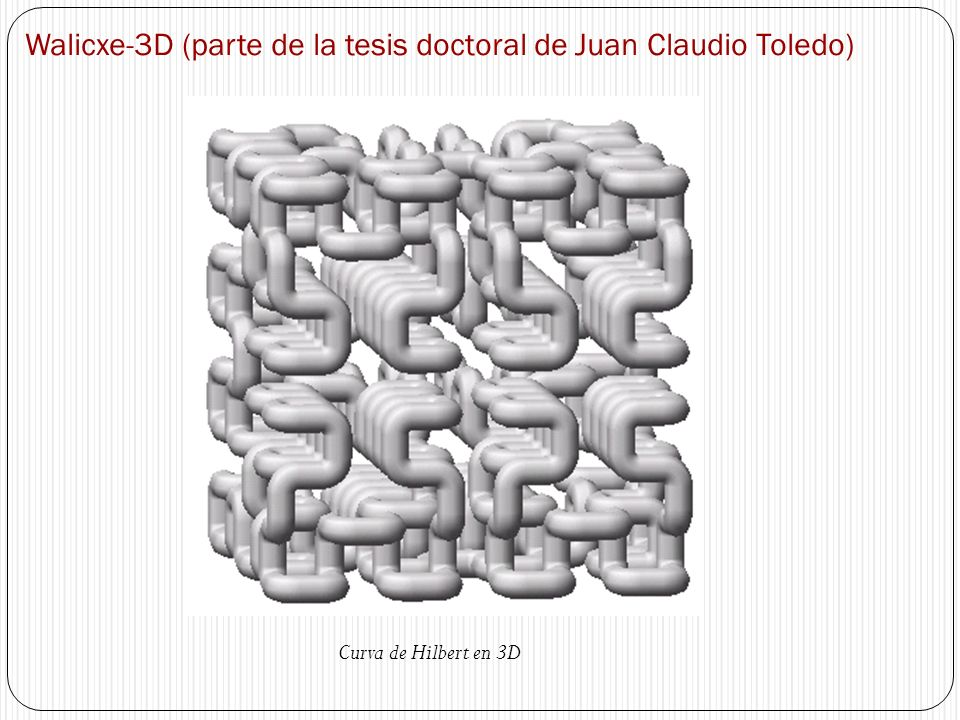 Walicxe-3D (parte de la tesis doctoral de Juan Claudio Toledo)