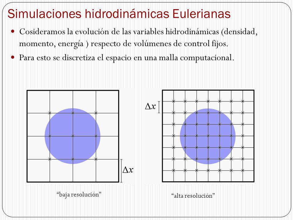Simulaciones hidrodinámicas Eulerianas