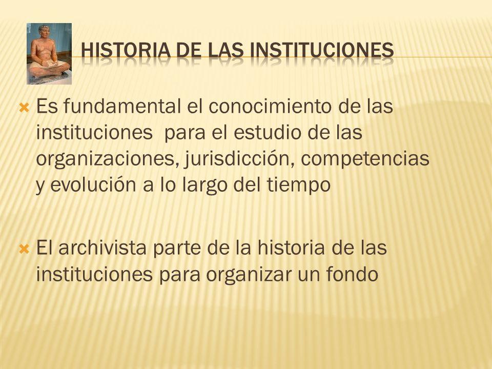HISTORIA DE LAS INSTITUCIONES