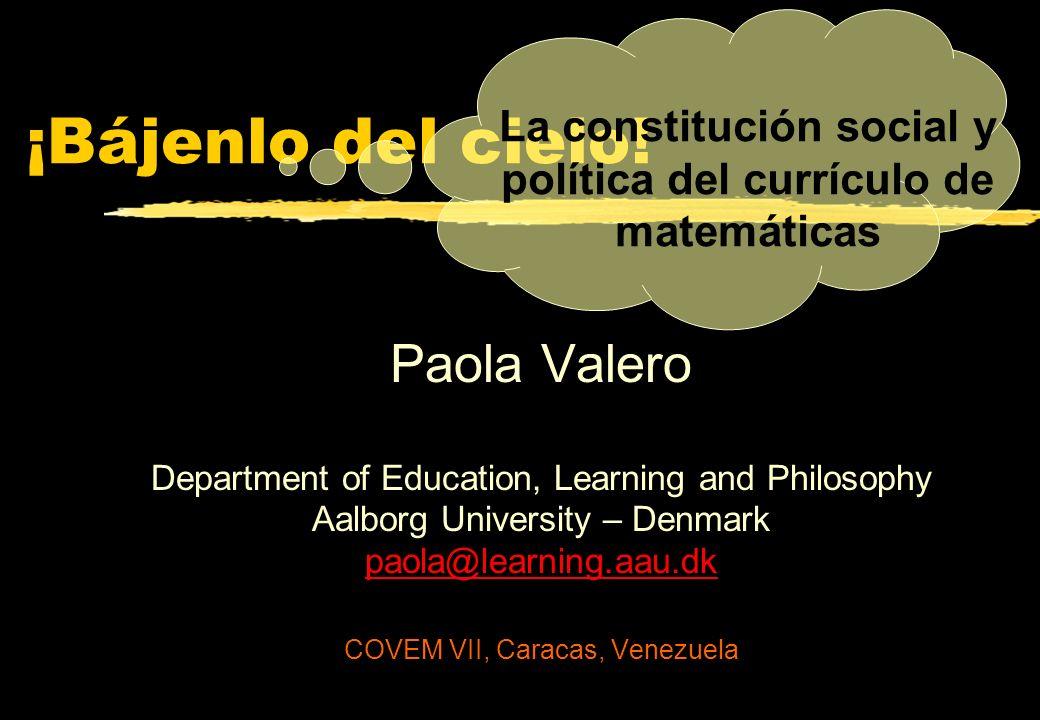 La constitución social y política del currículo de matemáticas