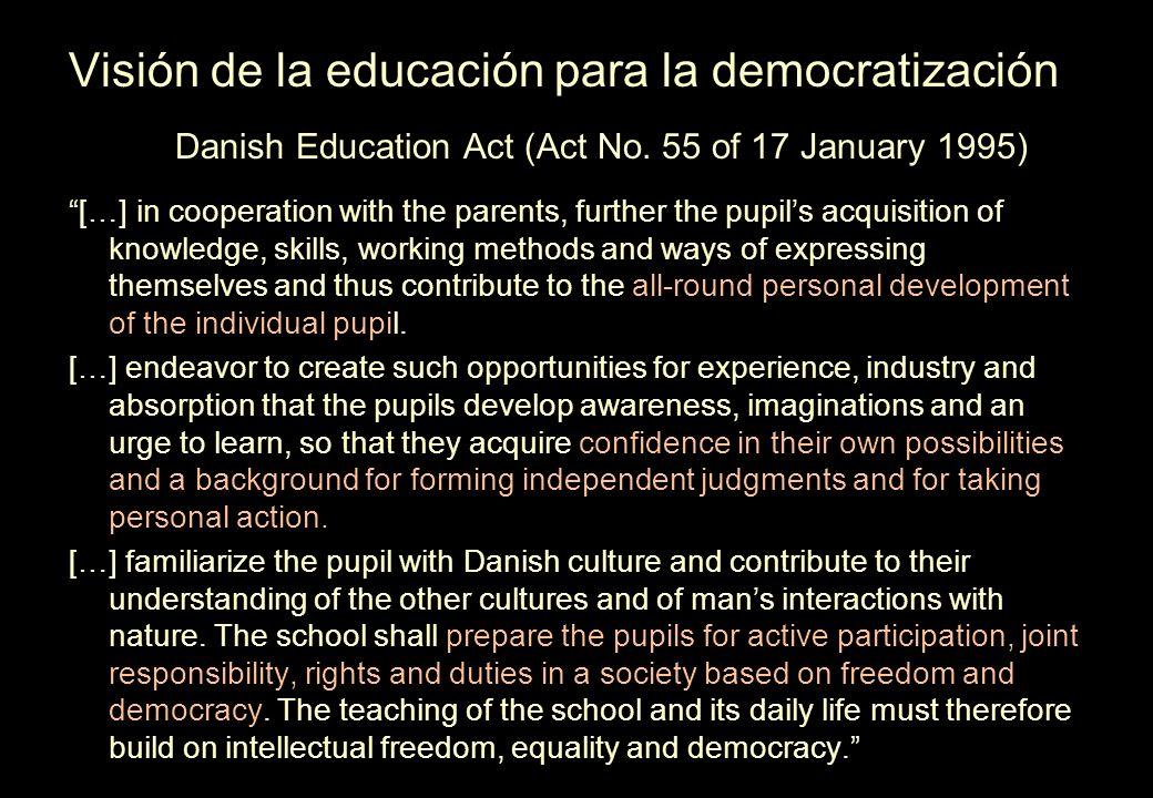Visión de la educación para la democratización