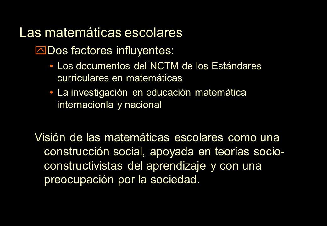 Las matemáticas escolares