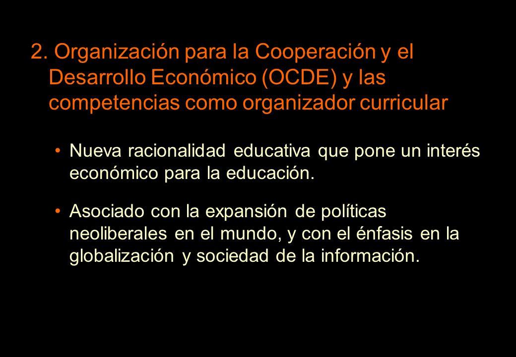 2. Organización para la Cooperación y el Desarrollo Económico (OCDE) y las competencias como organizador curricular
