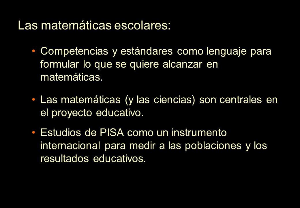 Las matemáticas escolares: