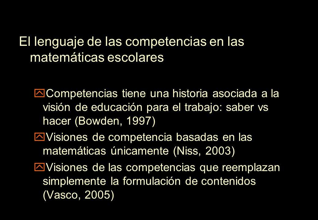 El lenguaje de las competencias en las matemáticas escolares