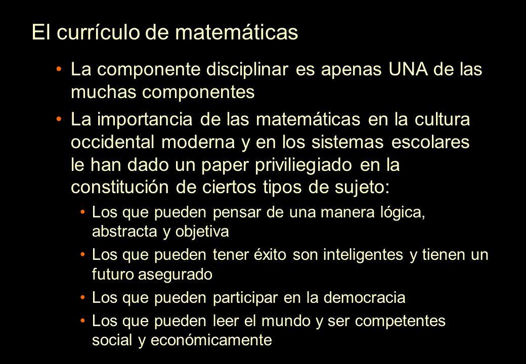 El currículo de matemáticas