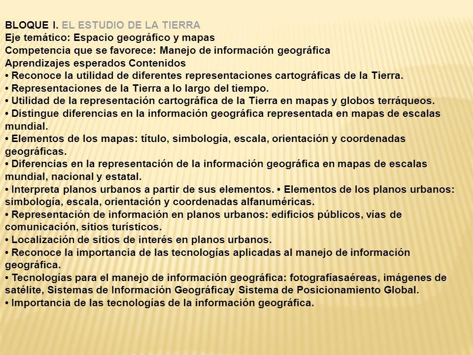 BLOQUE I. EL ESTUDIO DE LA TIERRA