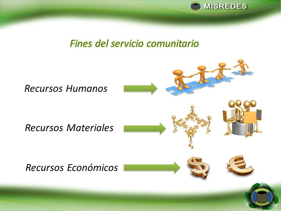 Fines del servicio comunitario