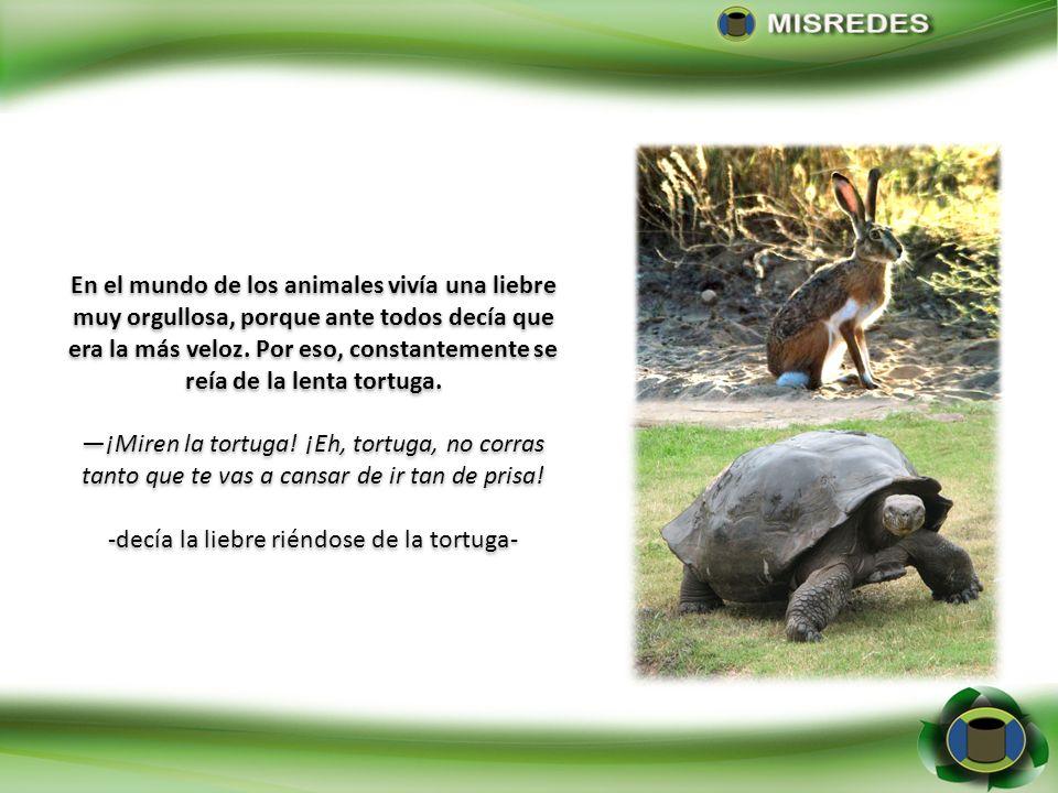 -decía la liebre riéndose de la tortuga-