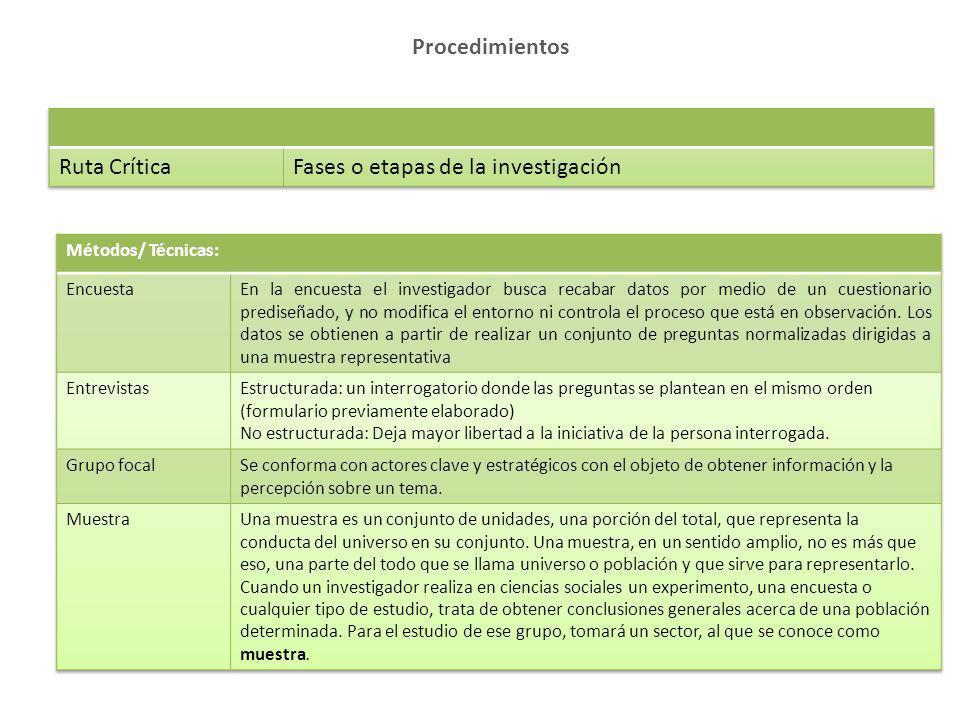 Fases o etapas de la investigación