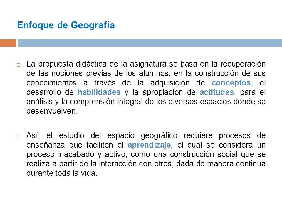 Enfoque de Geografía