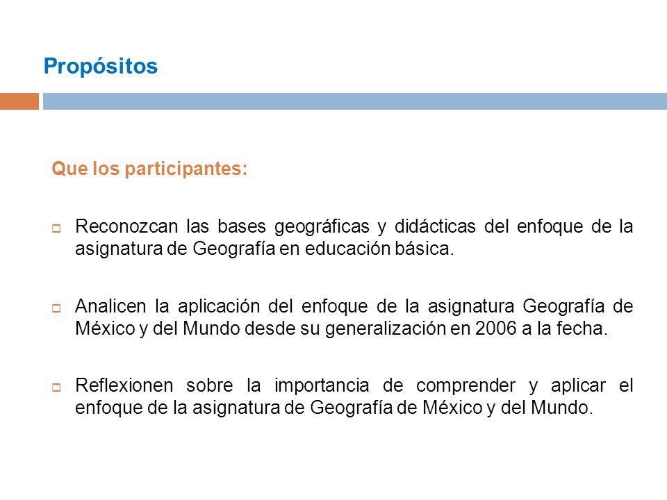 Propósitos Que los participantes: