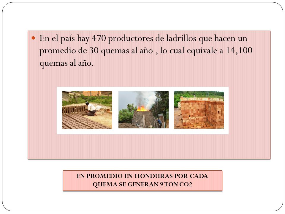 EN PROMEDIO EN HONDURAS POR CADA QUEMA SE GENERAN 9 TON CO2