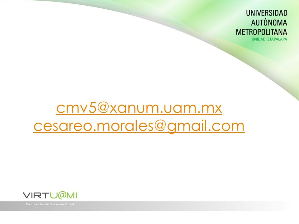 cmv5@xanum.uam.mx cesareo.morales@gmail.com