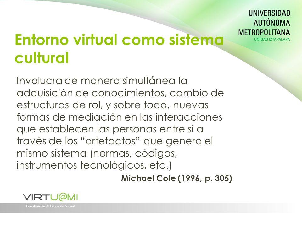 Entorno virtual como sistema cultural