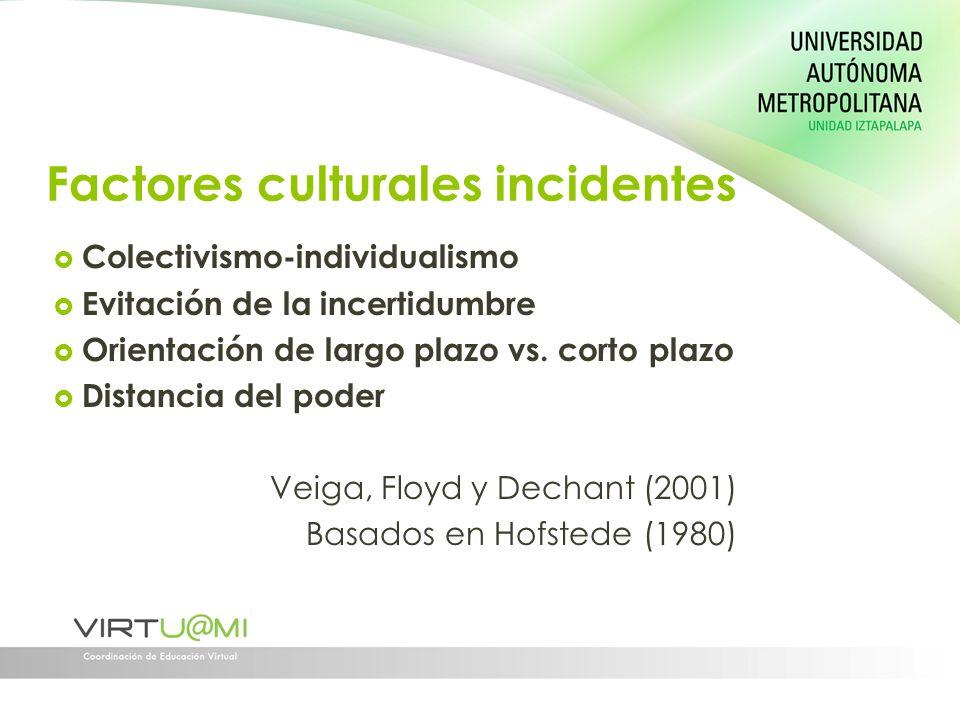 Factores culturales incidentes