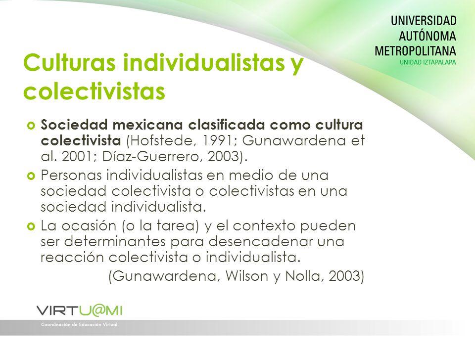 Culturas individualistas y colectivistas