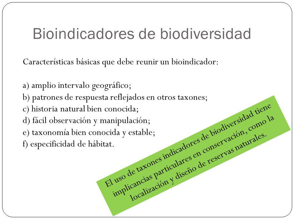 Bioindicadores de biodiversidad