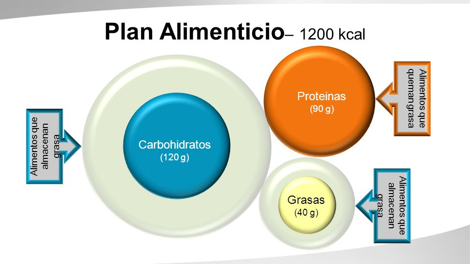 Plan Alimenticio– 1200 kcal