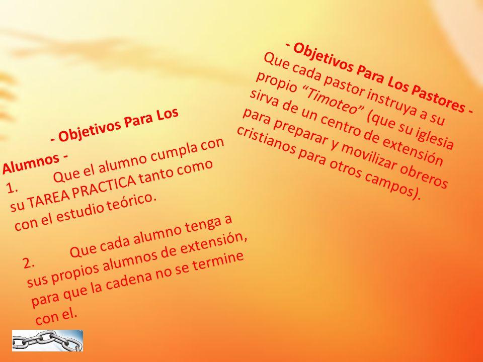 - Objetivos Para Los Pastores -