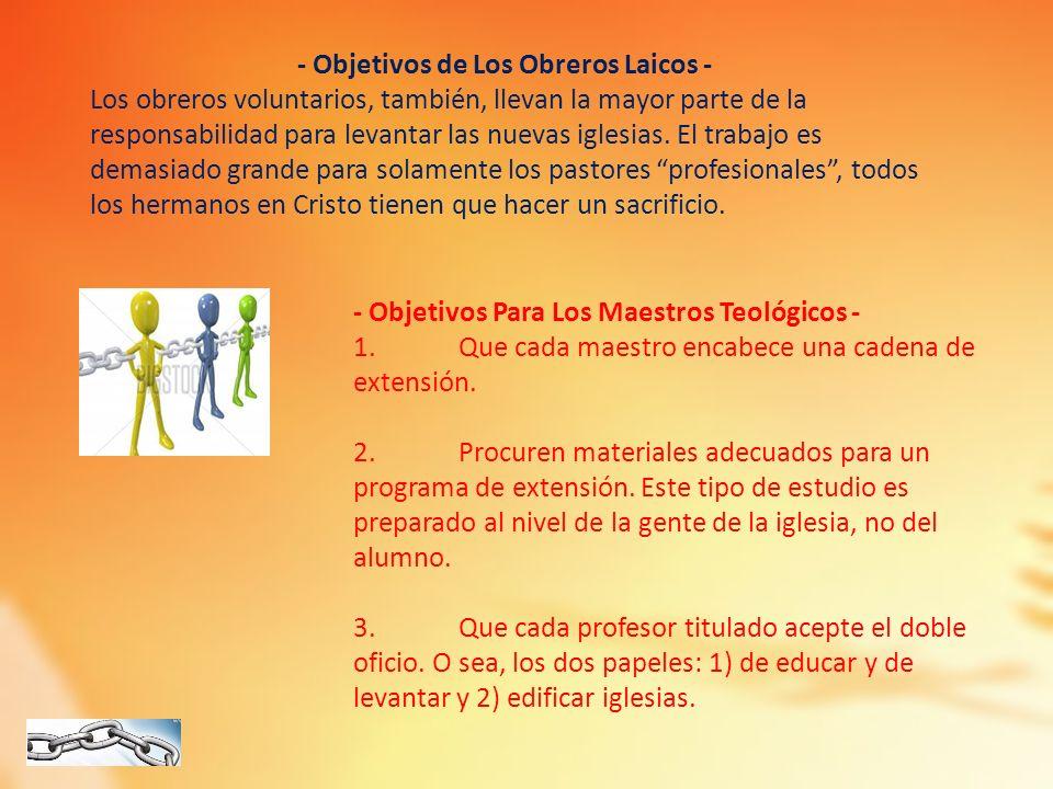 - Objetivos de Los Obreros Laicos -