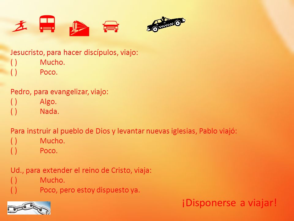     ¡Disponerse a viajar!