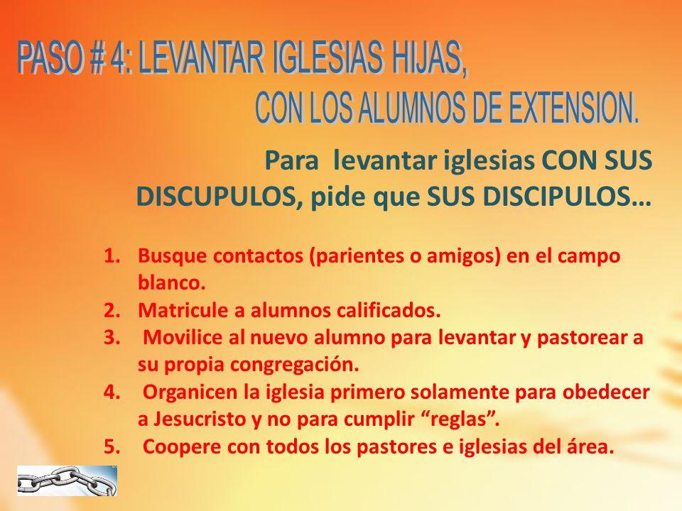 PASO # 4: LEVANTAR IGLESIAS HIJAS,
