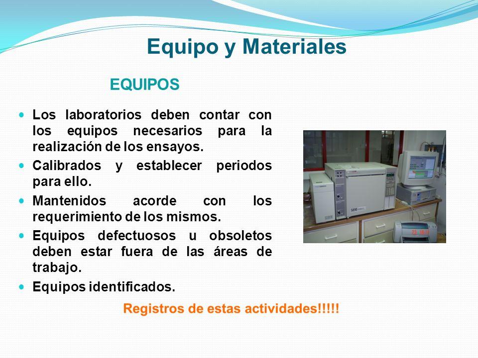 Equipo y Materiales EQUIPOS